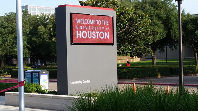 UNIVERSITY OF HOUSTON DIGITAL SIGN