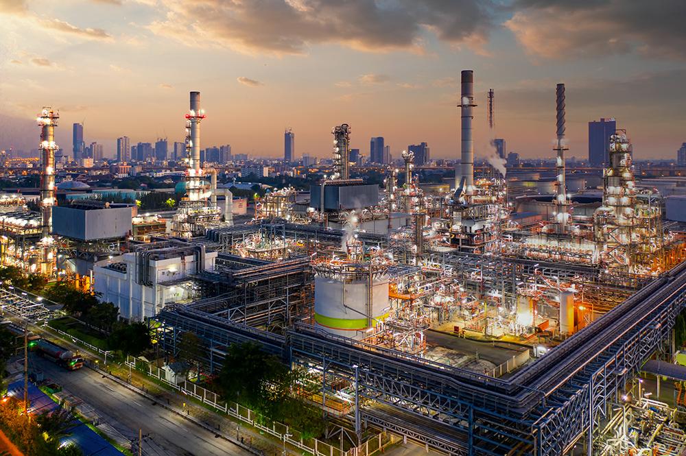 oil refinery smaller