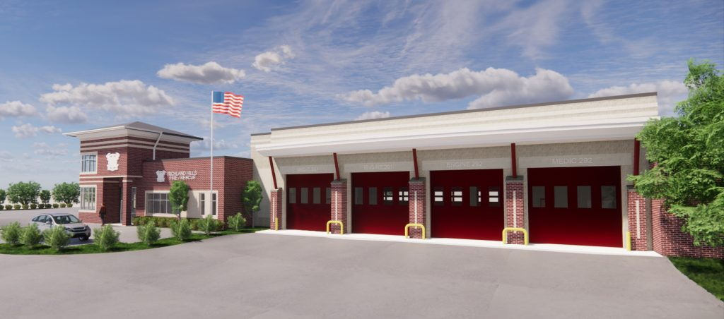 richland hills fire station rendering scaled